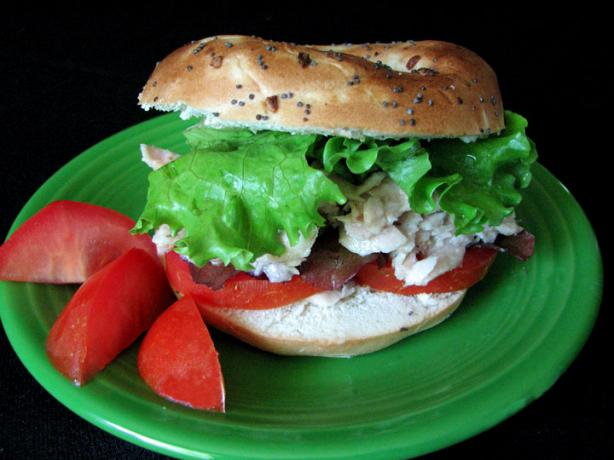 Italian Tuna Salad Sandwiches W/ Black Olive Dressing