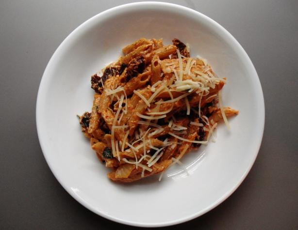 Penne With Sun-Dried Tomatoes and Goat Cheese