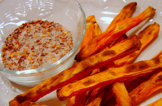 Sweet Potato Fries With Chile Salt