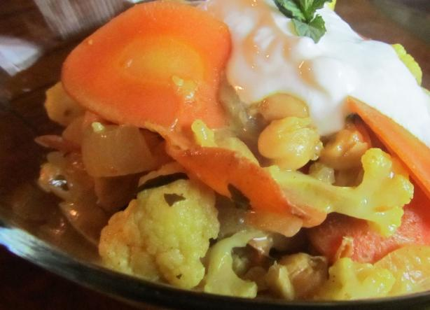 Coconut Curry With Cauliflower, Carrots, & Chickpeas
