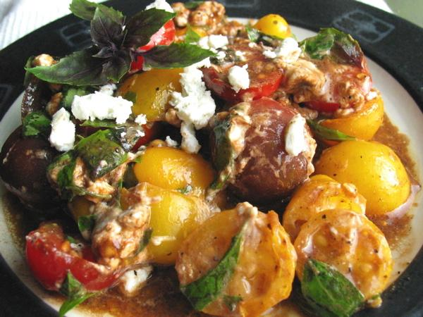Tomato Basil Salad With Goat Cheese