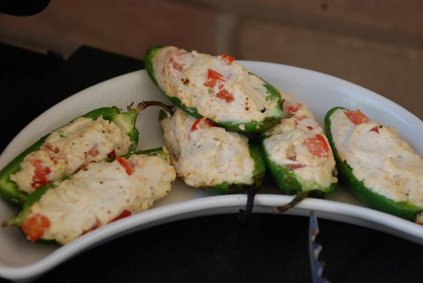Grilled Pepper Poppers With Goat Cheese