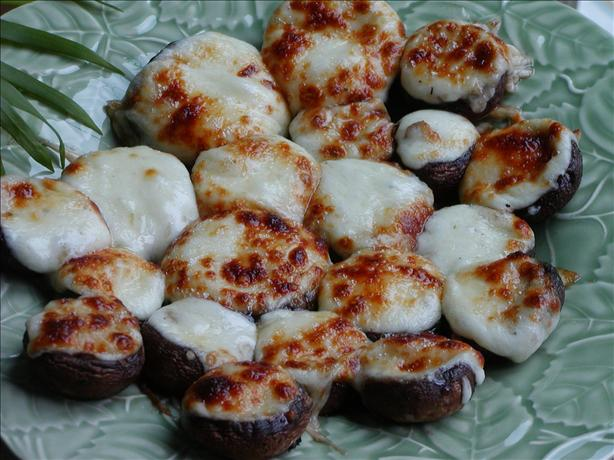Mushrooms Stuffed With Swiss Cheese