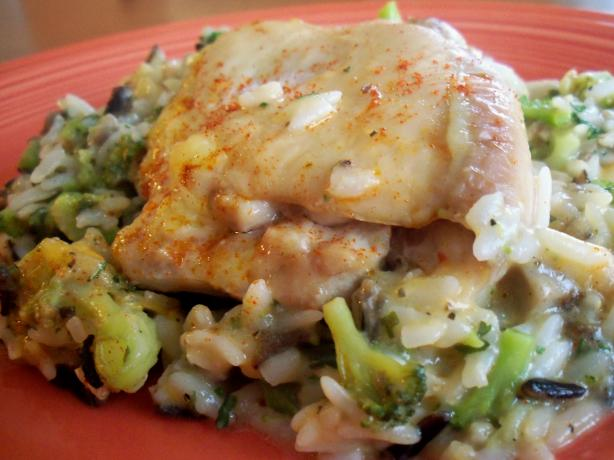 Easiest Chicken Rice & Veggie Casserole