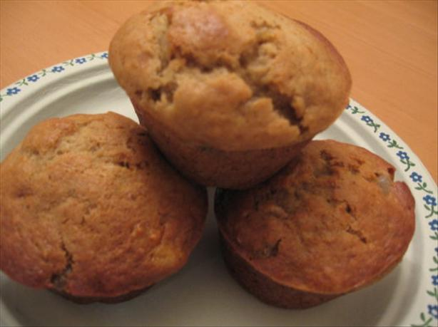 Ginger Banana Nut Muffins