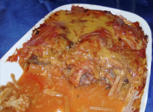 Perogies Casserole II With Smoked Sausage for Two
