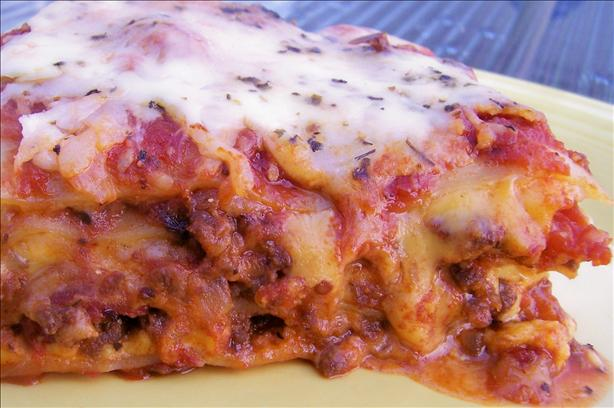 I Hate Ricotta Lasagna W/Meat Sauce and 3 Cheeses