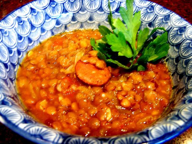 Lentil Tomato & Chorizo Soup