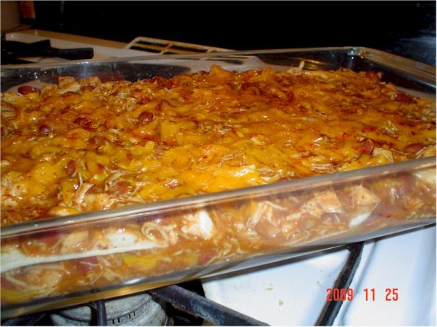 Easy Low Fat Chicken Enchilada Casserole