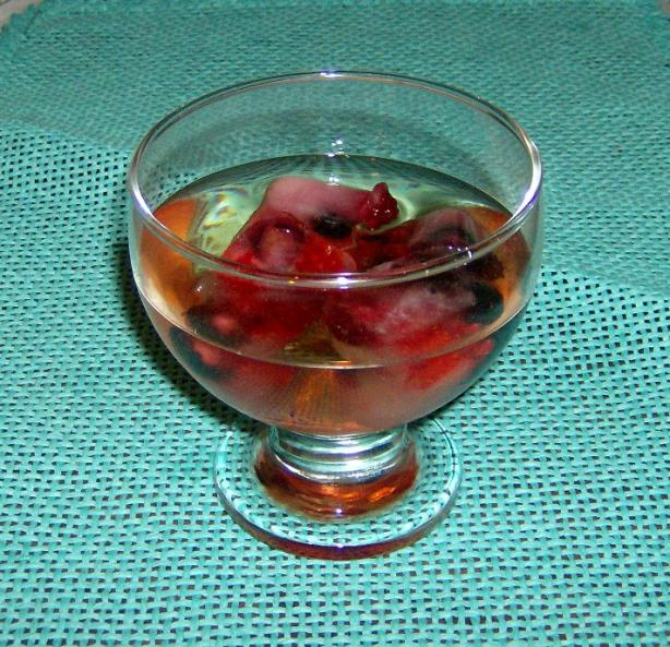 Crystal Clear Punch With Fruit Cubes