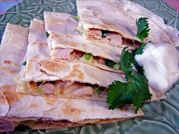 Low Fat Chicken and Avocado Quesadillas