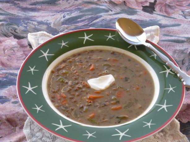 Creamy Vegetarian Lentil-Mushroom Soup