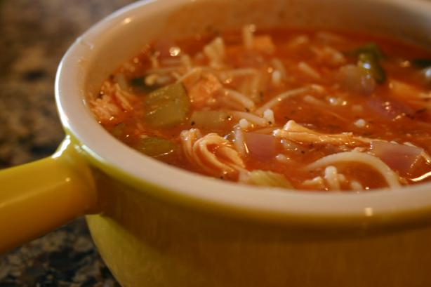 Italian Tomato Chicken Noodle Soup