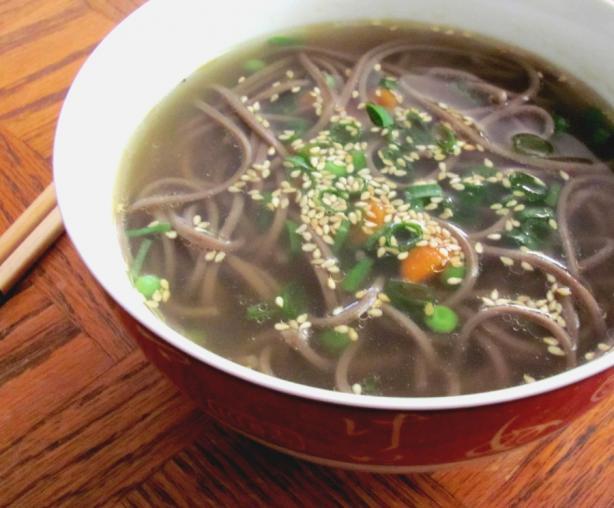 Bachelor's Soba Noodle Soup