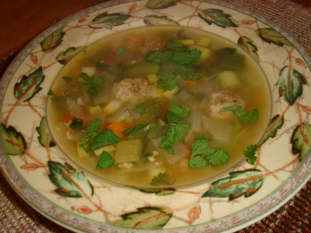 Betty's Turkey Meatball Soup
