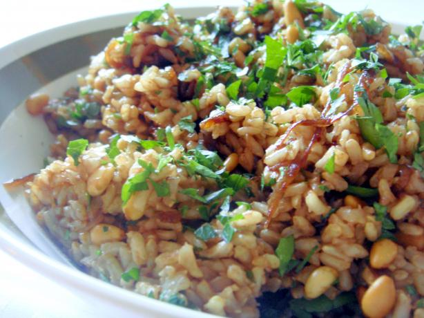 Brown Rice and Caramelized Onion Salad