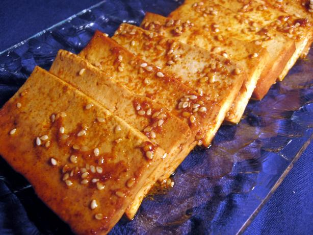 Baked Marinated Tofu