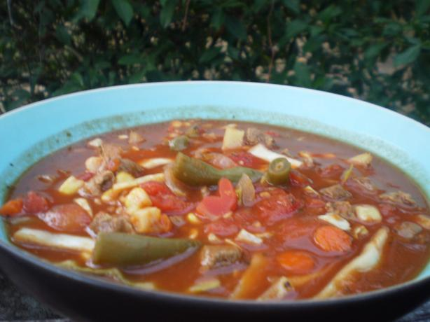 Zesty Beef and Vegetable Soup for the Crock Pot