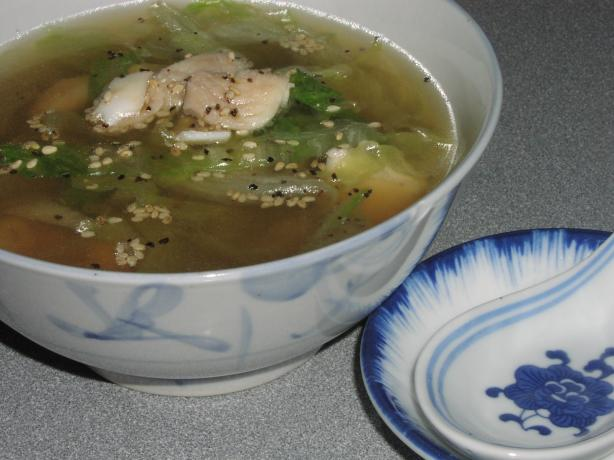 Chinese Fish and Lettuce Soup