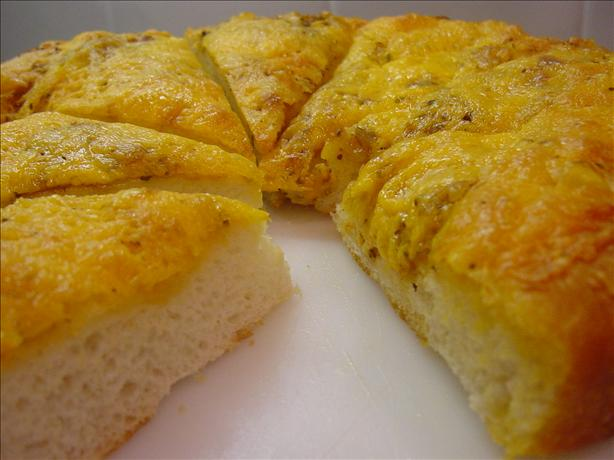Cheese-Crusted Flat Bread