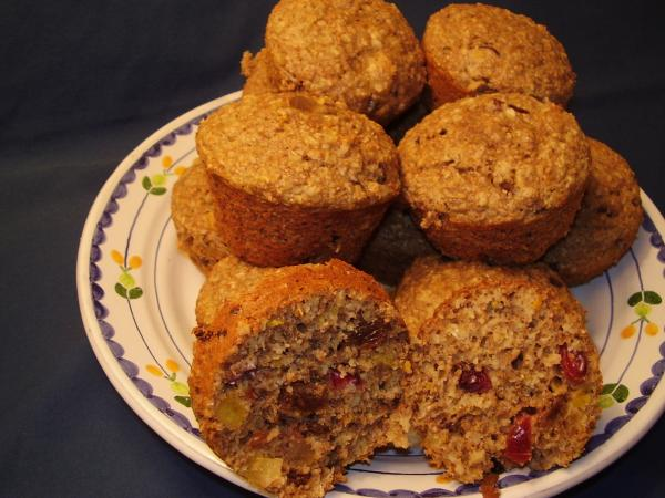 Oat Bran Muffins With Dried Fruit
