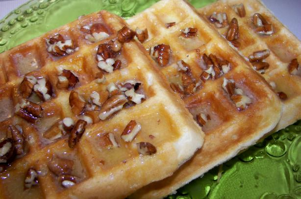 Country Waffles With Maple Pecan Butter