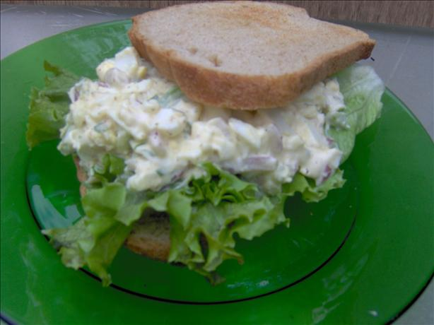 Warm Egg Salad on Whole Wheat Toast