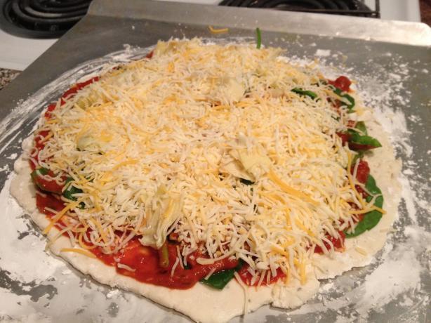 Gluten Free Spinach & Artichoke Pizza