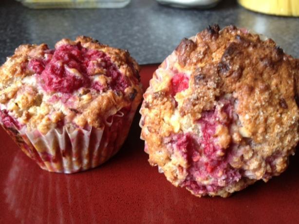 Gluten Free Raspberry Coconut & Yoghurt Muffins