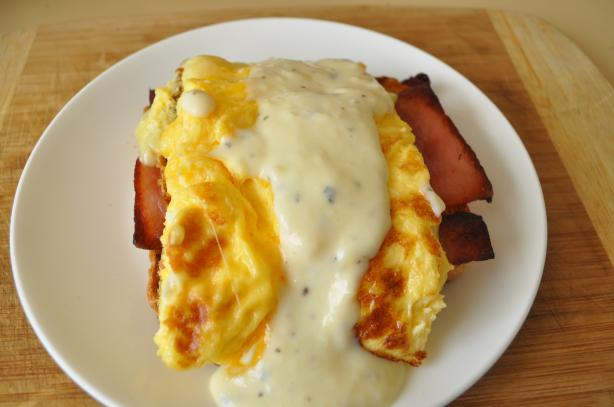 Brunch Eggs With Herbed Cheese Sauce