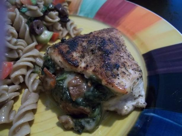 Chicken Breasts Stuffed With Spinach & Sun-Dried Tomatoes