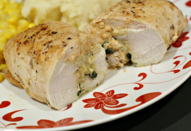 Basil & Feta Stuffed Chicken Breast