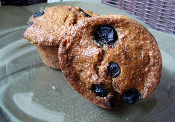 Whole Wheat Oat Blueberry Muffins