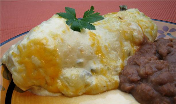 Chicken Enchiladas In Creamy White Sauce