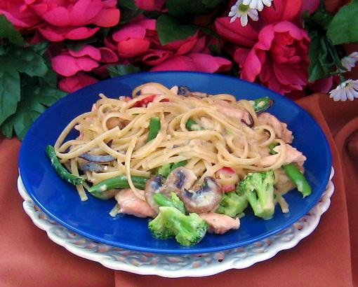 Linguine With Smoked Salmon Creamy Sauce