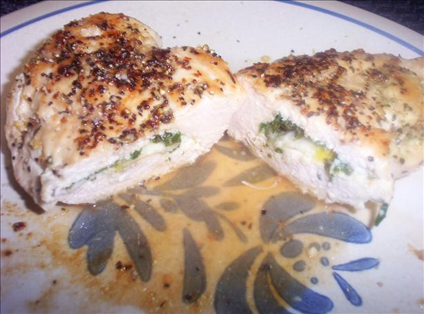 Lemon & Spinach Stuffed Basil Chicken Breasts