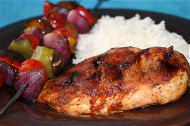 Garlic Grilled Teriyaki Chicken with Vegetables