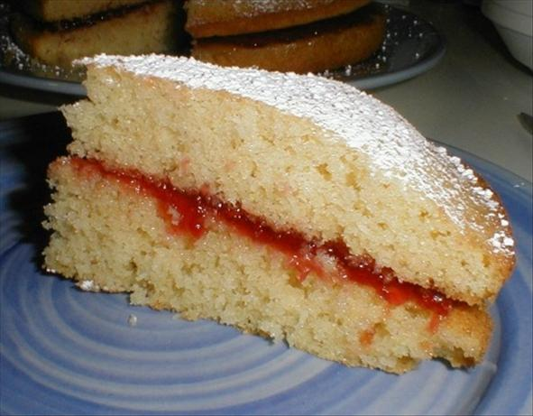Traditional British Victorian Sandwich Sponge Cake