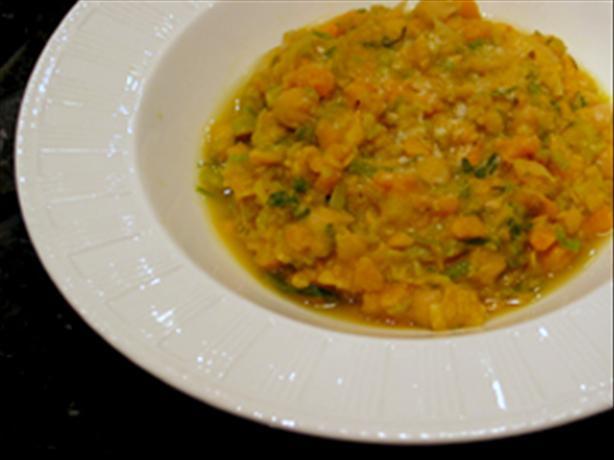 Chickpea, Leek & Parmesan Soup