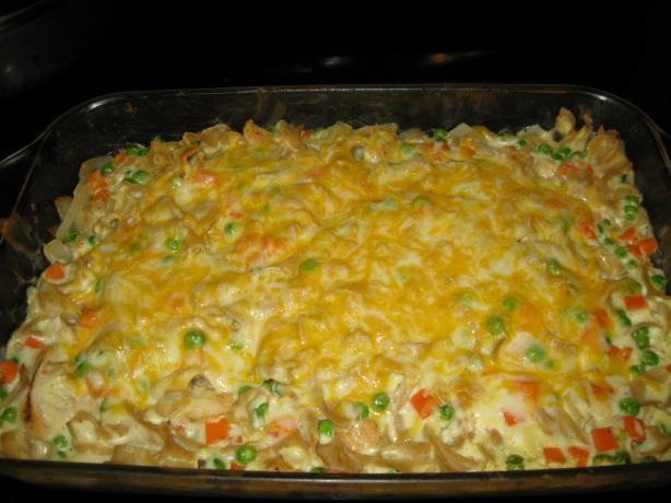 Sour Cream Chicken Noodle Casserole