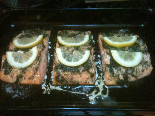 Grilled Dilled Salmon Fillets
