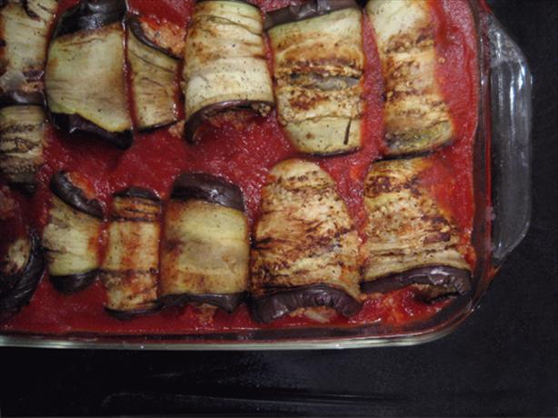 Eggplant Rolls W/ Tomato Sauce