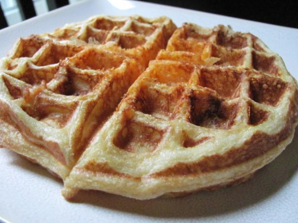 Crispy Cornmeal-Bacon Waffles
