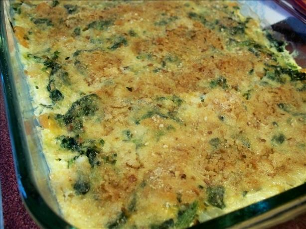 Shrimp and Spinach Casserole