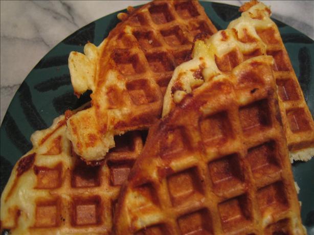 Smoked Cheddar Waffles