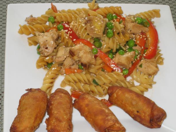 Chilled Oriental Chicken Pasta Salad