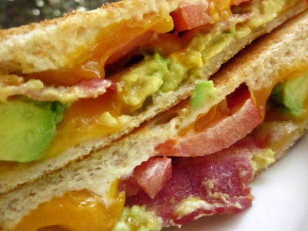Grilled Cheddar, Bacon, and Avocado Sandwiches
