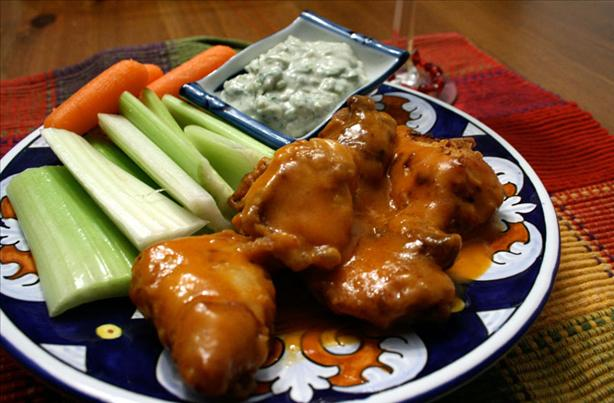 Bourbon-Marinated Buffalo Chicken Strips With Maytag Blue Dip