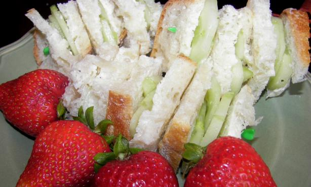Cucumber and Butter Tea Sandwiches