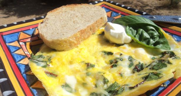 Swiss Chard and Salmon Frittata